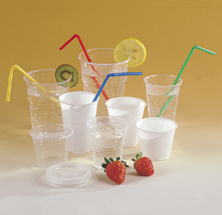 PP cups clear, white and colors