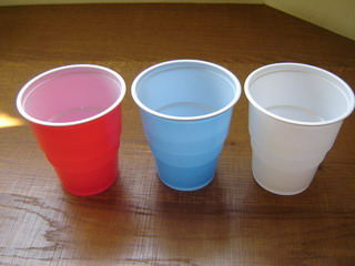 2 color PP cups