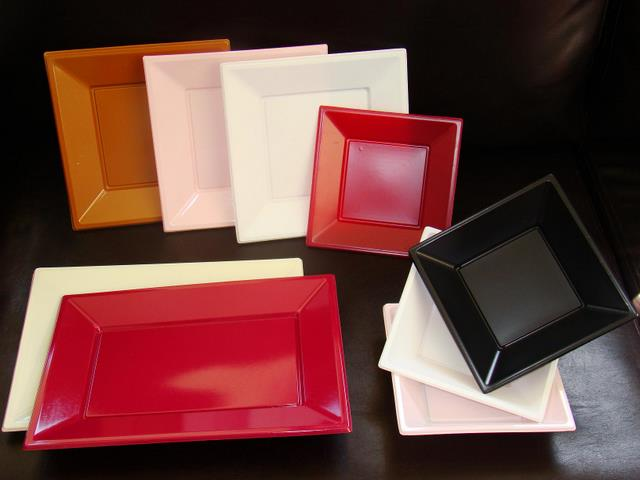 Square plates bowls and Rectangular tray & Plastic Plates \u2013 Square (vacuum Forming)